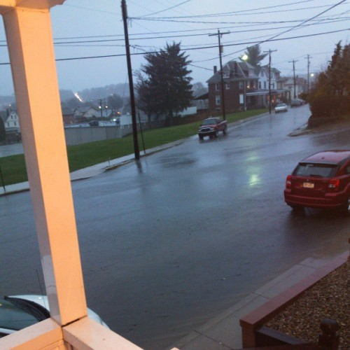 I guess its raining lol streets are flooded