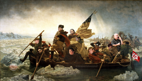 General Johnson leading the charge across the Potomac