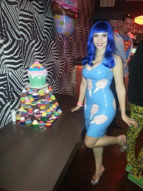 Last night I was Katy Perry for my 21st! (…and wearing a latex dress by Abigail Greydanus - Katy's very own latex dress maker!)