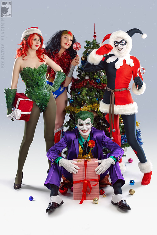gothamgirlspodcast:  I love this picture, the costumes are nice, the cosplayers did a good job, but the Wonder Woman just seems thrown in to me. I feel like this picture is missing a Catwoman X3 -Rachel