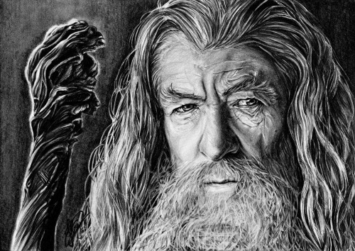 fantaasiatoidab:  Gandalf the Grey Date : 27.12.2012Used : 3H, B, 4B, mechanical pencils (0,3&0,7mm)Time : 7h 16min