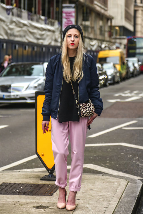 When in doubt, wear pink trousers!