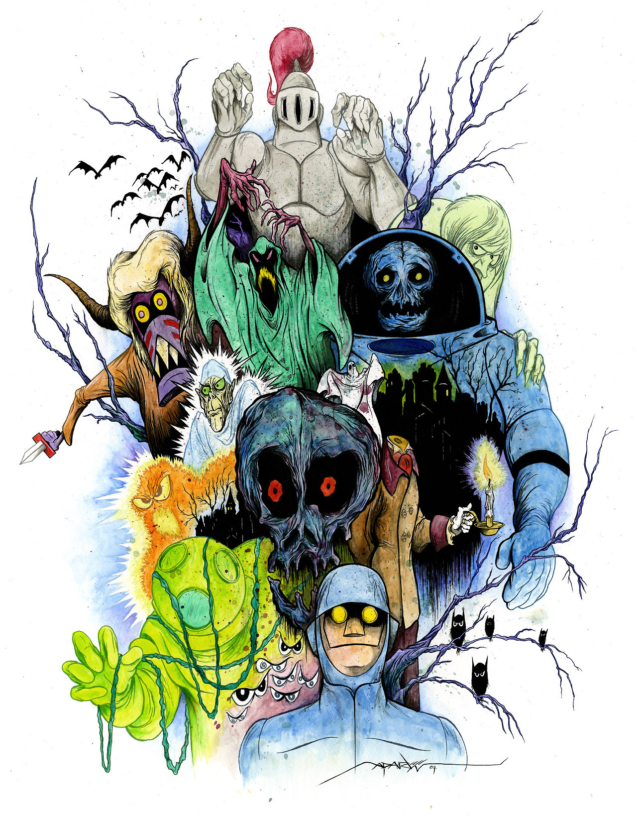 johnny-dynamo:  The Scooby Villains, by Alex Pardee.