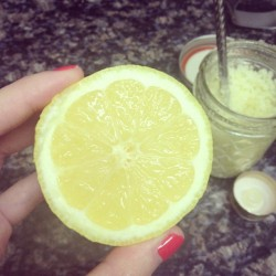 Pre Mother's Day lemon salt scrub!