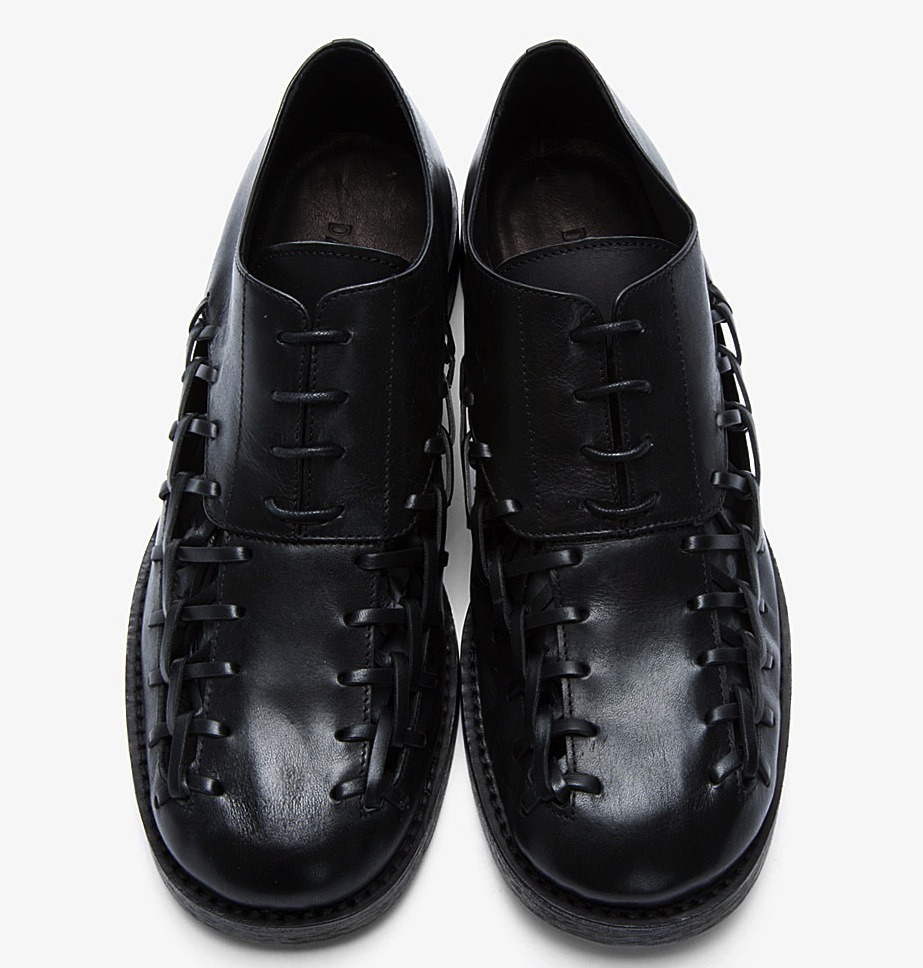 edge-to-edge:  DAMIR DOMA LACED-UP FETER OXFORD SHOES