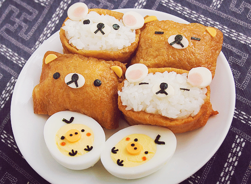 How to make Rilakkuma inari-zushi (by AnnaTheRed)