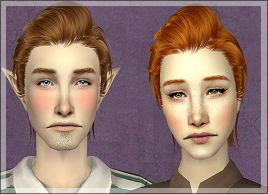 trappingcrushes:  Snapun shared 25(!) SkySims hair re-textured over at their LJ :D