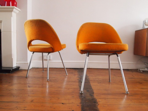 Designer: Eero Saarinen Maker: Knoll Model: 72 Chair Design Year: 1945 Origin: USA Price: SOLD (4 Available)