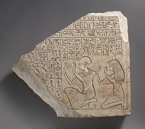 centuriespast:  Votive stela of Userhat Date: ca. 1353–1323 B.C. Egypt,Dynasty 18, late The Metropolitan Museum of Art