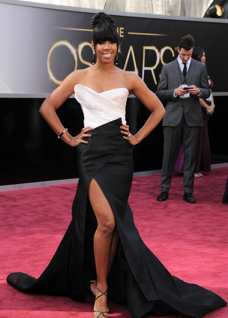 KELLY ROWLAND Singer Kelly Rowland wearing Donna Karan Atelier at the 85th Annual Academy Awards, February 24, 2013 in Hollywood, California. Photo by Steve Granitz/WireImage