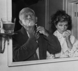 Spencer Tracy and Katharine Hepburn.