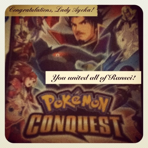 Yep, I finally beat the main storyline today! Yay!! #PokemonConquest #Pokemon #PicFrame