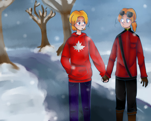 brenardo-cumberbum:  screw it all i ship canada and canada and no one can convince me otherwise also i suck at backgrounds