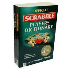 bookspotter:  Official Scrabble Players Dictionary. Really large paperback. Two Scrabblers sitting for a game at Whole Foods. Tuesday Night. Submitted by Amy.