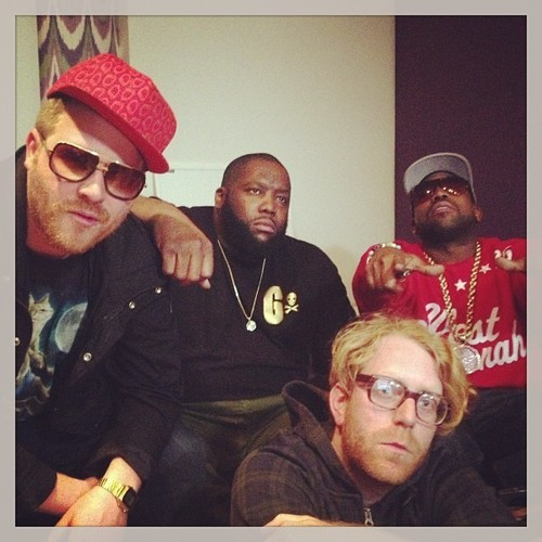 EL-P. KILLER MIKE. BIG BOI. NICK HOOK.  RUN THE JEWELS SESSION.