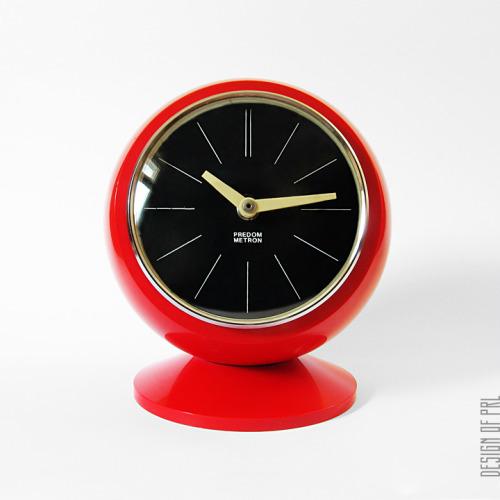designofprl:  1973, Predom-Metron, zegar kominkowy Z 312, projektant nieznany.