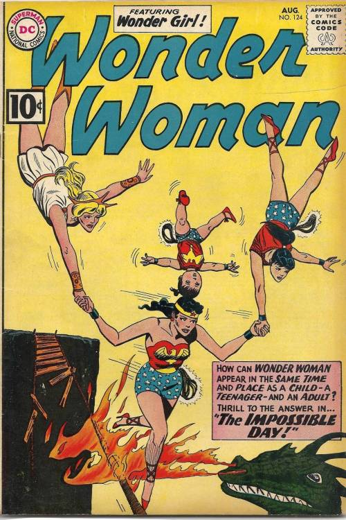 comicbookcovers:  Wonder Woman #124, August 1961, cover by Ross Andru And Mike Esposito