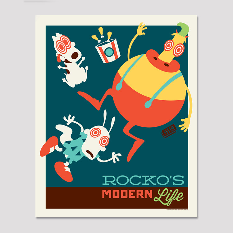 "My ""Rocko's Modern Life"" screen print is now available in my shop for $20! Limited edition of 50! BUY HERE!"