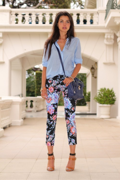 must-have-outfits:  pastel floral contrast