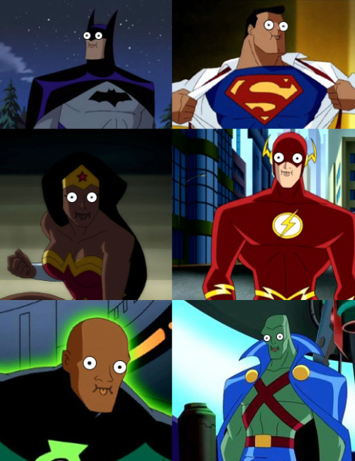 wtfnoheals:  litospeaks:  This Justice League is wack.  They've got poo brain.  All donked out with it.