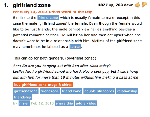 shenaniganations:  This, though.   The girlfriend zone. I'll come back to this soon and type up the [ ] version.