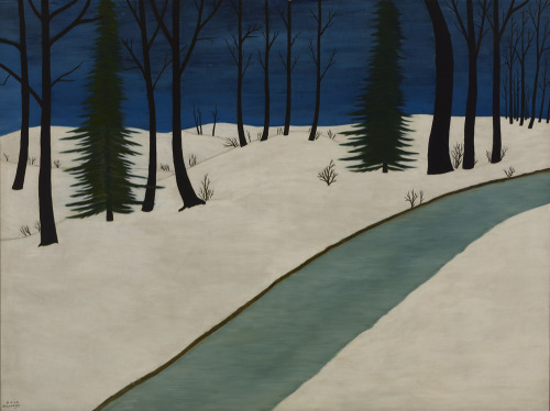 Snow: A Mini-series Emile Pierre Branchard's stark snowy landscape Winter, 1928, was acquired in 1939 from the Gallery's inaugural Room of Contemporary Art exhibition. Branchard was self-taught and only began painting seriously when he was about 30. IMAGE: Emile Pierre Branchard (American, 1881–1938). Winter, 1928. Oil on canvas, 36 x 48 inches (91.4 x 121.9 cm). Collection Albright-Knox Art Gallery. Room of Contemporary Art Fund, 1939.