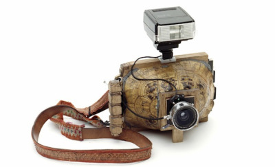 Cameras from shells Cameras are usually the instruments of art creation, but in their Camera Collection, artists Taiyo Onorato and Nico Krebs turn cameras into objects of art themselves.They remove the devices from their usual metal and plastic shells, replacing them with unexpected, and sometimes natural, coverings. Onorato and Krebs' series is an intriguing exploration of technology and the materials we use to make it. In addition to these armadillo, horn, and shell cameras, they also have a handful of cameras made from stacks of books, using one medium to house the creation of another…http://bit.ly/13kHnJ6
