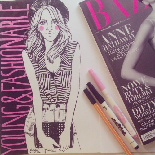 (via .@nataliamadej | …and done! #drawing #illustration #fashion #girl #magazine #art | Webstagram - the best Instagram viewer)