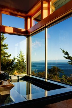 Volumetric Contemporary House Overlooking The Coast of San Juan Island