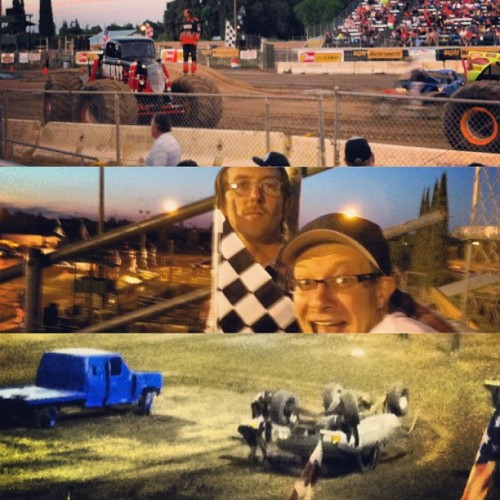 Monster trucks bitches.       t(-.-)t @astronaughtmikedexter @shamelessfrankenstein (at Turlock Fair Grounds Gate 12)