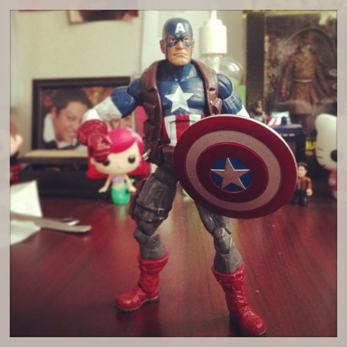 Newest desk friend #captainamerica #marvel #toys