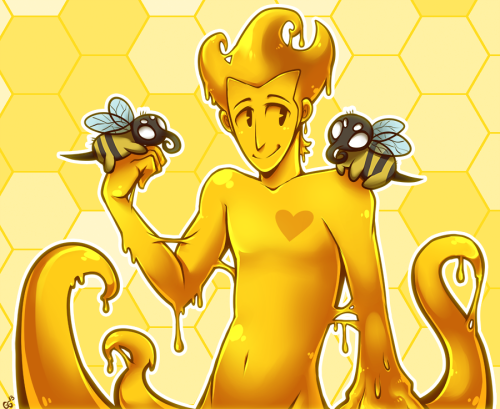 ride6artblog:  quiixotical:  Slime (uh, honey) boy Wilson. ive been wanting to draw this since nex mentioned it ahaha DS bees are weird  OH GOD HE'S ADORABLE