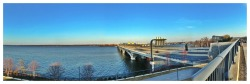 Woodrow Wilson Bridge  VA/MD State Line iPhone 5 (Pano App)