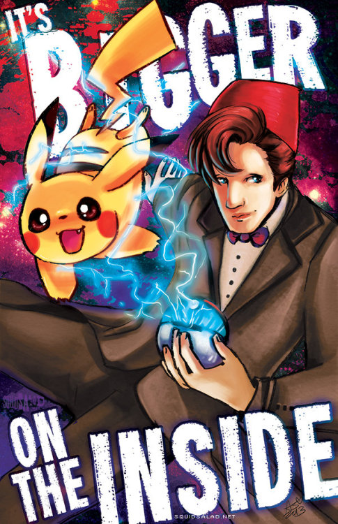 pokemonpalooza:  Doctor Who vs Pokemon Bigger on the Inside by *Tsubasa-No-Kami