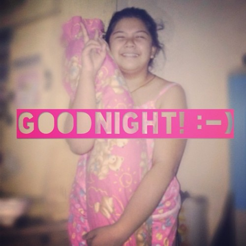 Goodnight, guys! :-) 😴 💗 #colorcoded #pink #selfie #instatext #imfat #weird #vain