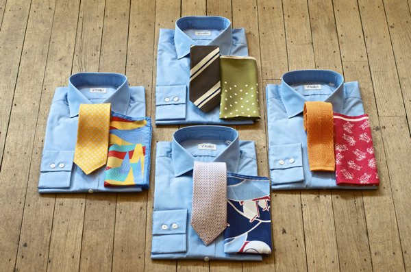 Tie and Hank combinations Available online and at No.3 Clifford St