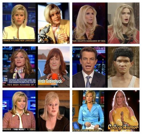 FOX News Figures Strangely Resemble Kids In The Hall Characters Concrete proof that the media is controlled by Canadians in drag.