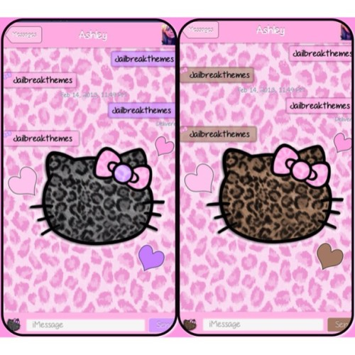 New hello kitty leopard SMS themes at jailbreakthemes.com #jailbreak #jailbreakthemes #jbthemes #cydia #winterboard #evasi0n #cutethemes #themes #sms #imessage #leopardprint #leopard #hellokitty #hk #bow #hearts
