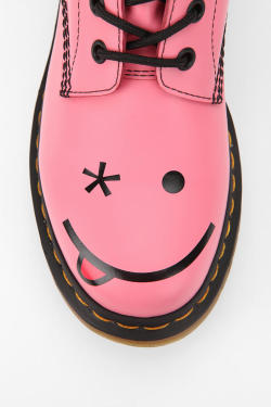 urbanoutfitters:  With a wink and a smile.  An easy way to brighten up your day! Would you rock these emotion-filled Doc Martins?