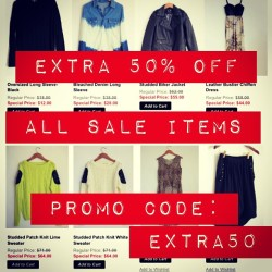 2 day SALE! Take extra 50% off already markdown items!!!! Hurry - selling out fast!!! Enter Promo Code EXTRA50 to receive your discount ❤ shop MickeysGirl.com