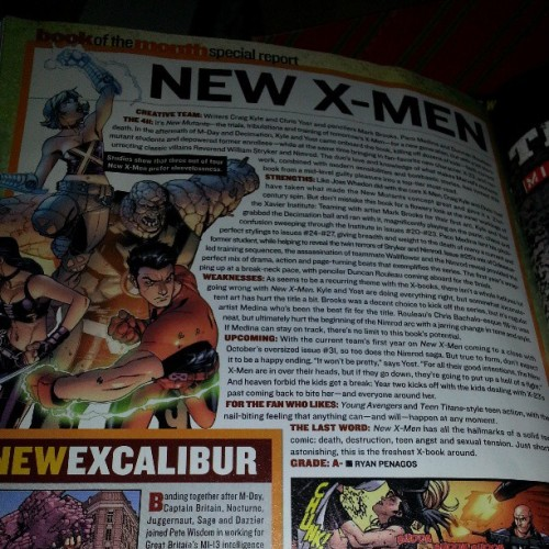 In #WizardMagazine #181, I graded New #XMen by Craig Kyle & Chris Yost as A-. I wonder what those guys are up to now? :) #comics #Marvel #thingsfoundwhilecleaning