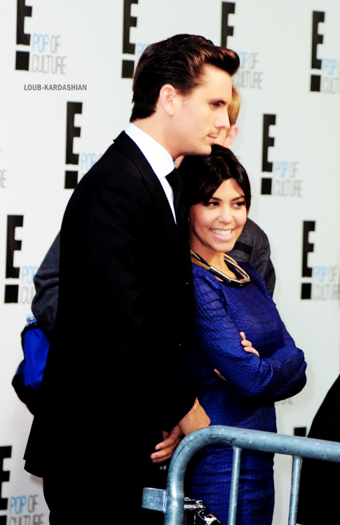 Kourtney & Scott At The 2013 E! Upfront Event At Manhattan Center In Manhattan, NY (April 22nd, 2013)