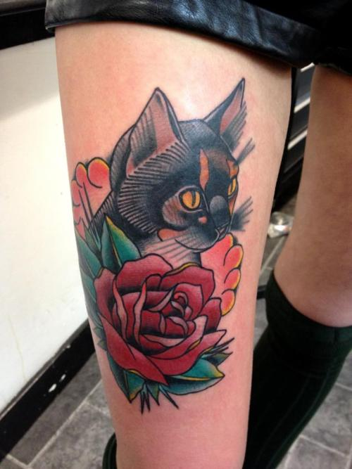 joeellistattooer:  cats are the best. instagram: joeellistattooer