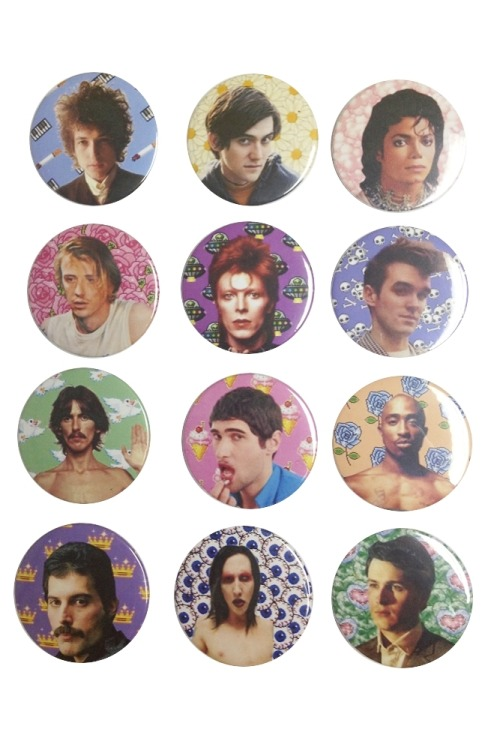 thepulpgirls:  OMG new pins~~~~! (via The Pulp Girls — BABES OF MUSIC BUTTONS II)
