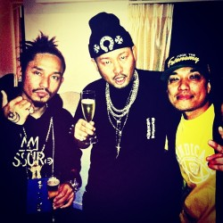 My ninjas! Asian Hip-Hop Linked up! (L to R) Day (Thaitanium) x HOKT (NCBB) x HI-D