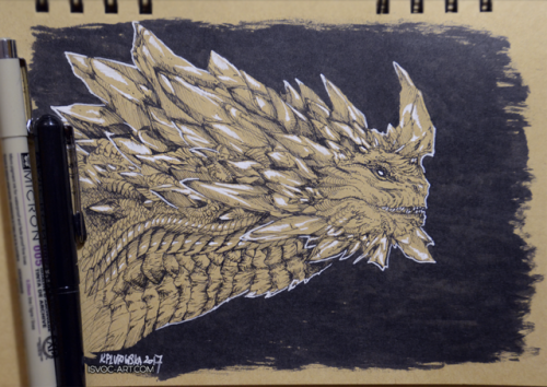 sketchblog post dragon vlast gw2 guild wars 2 GW2 Fan Submission ink inktober inktober2017 inktober 2017 fan art dragon art