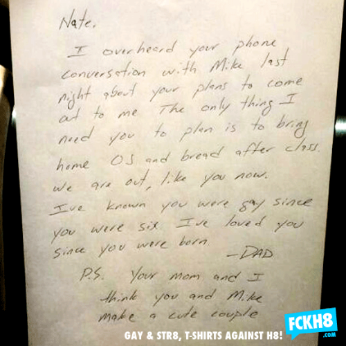 explore-blog:  This handwritten note from a father to his gay teenage son is just about the most heart-warming addition to history's greatest fatherly letters.