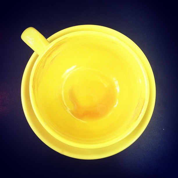 #best ever. #coffee #yellow #delicious #empty #perfection #coffeecat