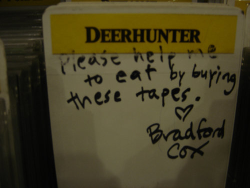 samfoolery:  Deerhunter section at Amoeba.