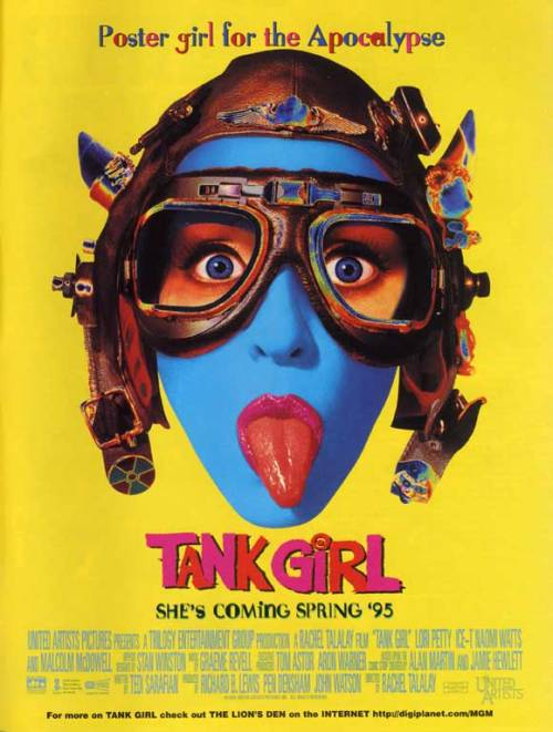 "huithuitposters:  Tank Girl (1995) - United States of America Part of HuitHuit's ""Kamikaze Girls"" series."